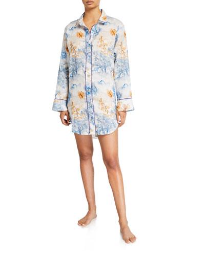 Sissy Floral-Print Sleepshirt