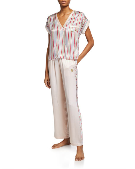 Morgan Lane Yana Side-Stripe Pajama Pants
