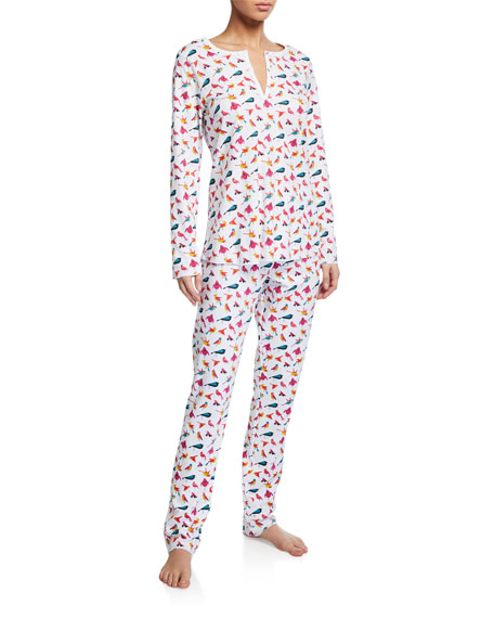 Roller Rabbit Funny Birds Long Pajama Set