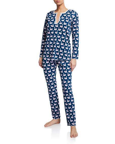 Roller Rabbit Pond Royals Long Pajama Set