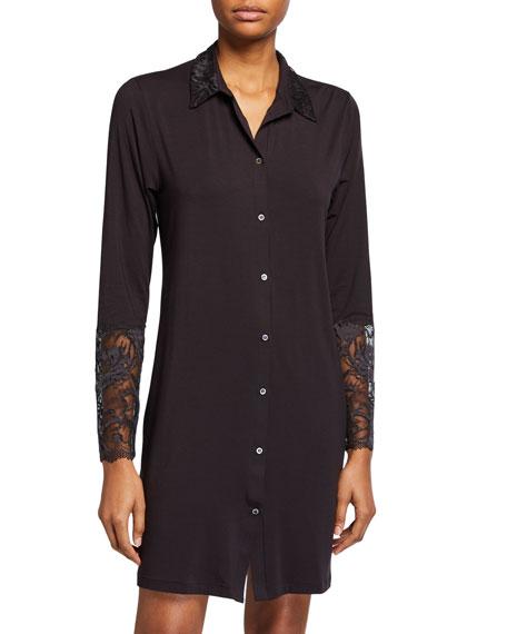 Zimmerli Sensual Lace-Trim Sleepshirt