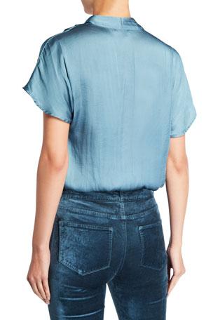 AQUA Women's Braided Trim Skinny Jeans in Dark Wash 100