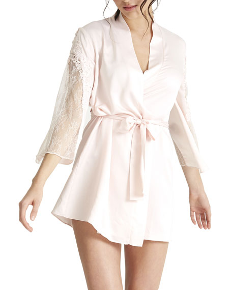 Rya Collection Amore Lace-Sleeve Cover-Up Robe