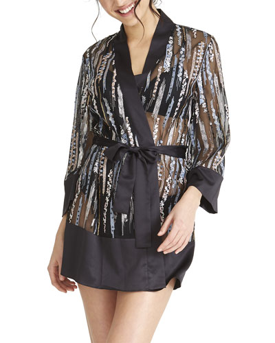 Modesty Embroidered Coverup Robe