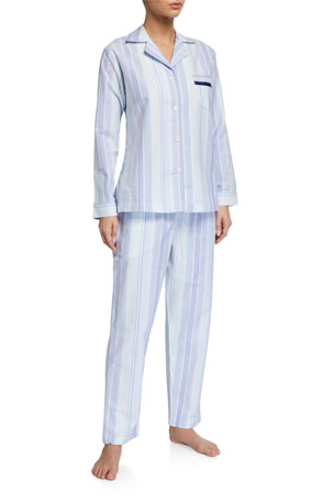 P Jamas Striped Knit Pajama Set