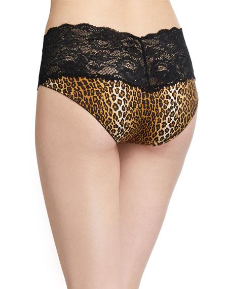 Cosabella Comfie Lace-Trim Leopard Boyshort Briefs