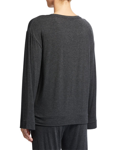 Skin Lily Long-Sleeve Jersey Lounge Top