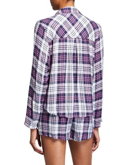 Rails Kellen Plaid Long-Sleeve Shortie Pajama Set
