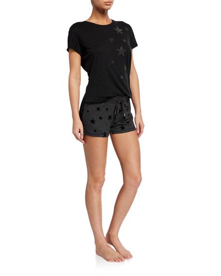 PJ Salvage Night Sky Star-Print Shorts