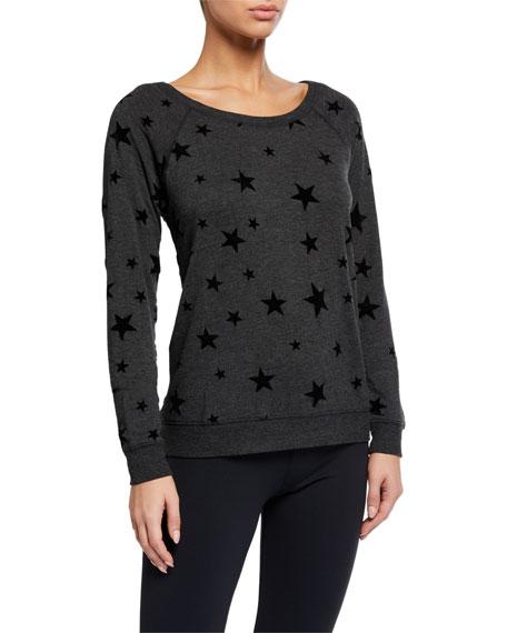 PJ Salvage Night Sky Star-Pattern Lounge Shirt