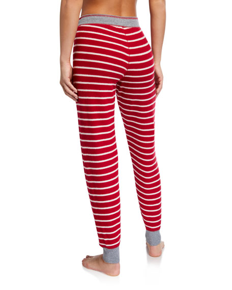 PJ Salvage Joyful Heart Striped Jogger Pants