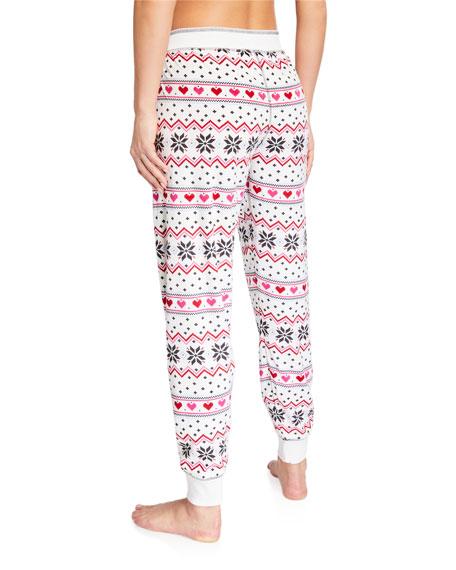 PJ Salvage Holiday Love Pattern Jogger Pants