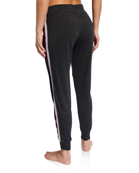 PJ Salvage Peachy-In-Color Side-Stripe Jogger Lounge Pants