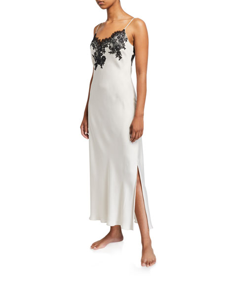 Natori L'Amour Lace-Trim Nightgown