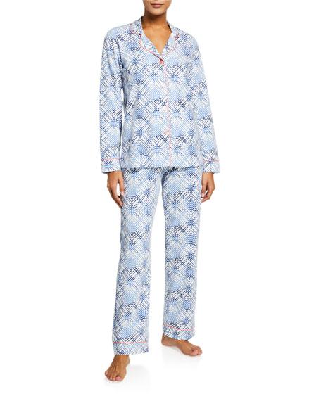 Bedhead Plus Size Geometric-Print Classic Pajama Set