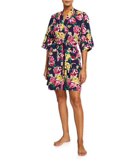 BedHead Pajamas Floral-Print Kimono Robe
