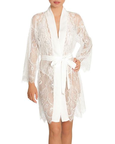 Jonquil Sara Lace Wrap Robe