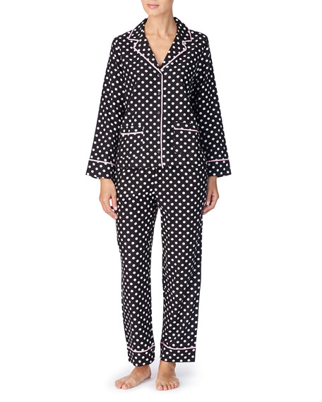 kate spade new york polka dot twill classic pajama set