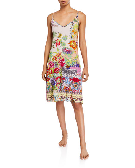 Johnny Was Dreamer Graphic-Print Chemise