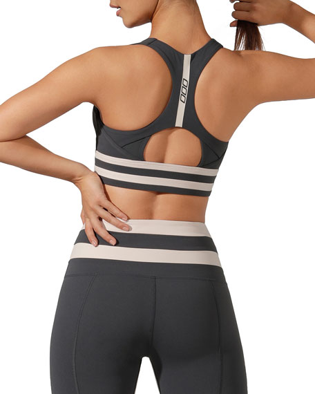 Lorna Jane Comfort Support Sports Bra with Stripes