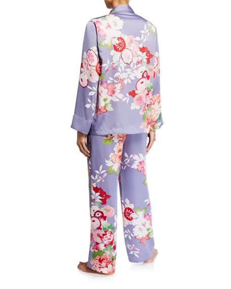 Natori Winter Peony Floral Classic Pajama Set