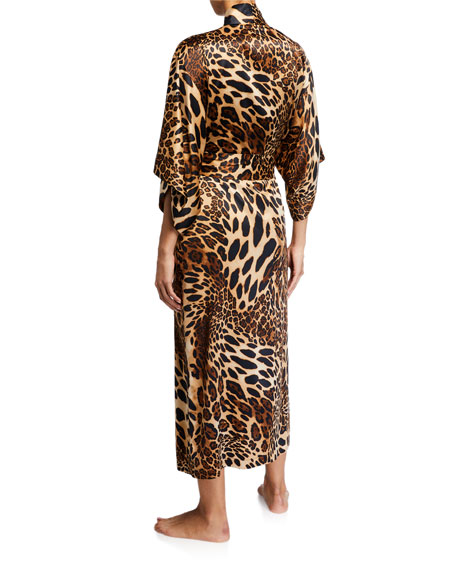 Natori Luxe Leopard Long Robe