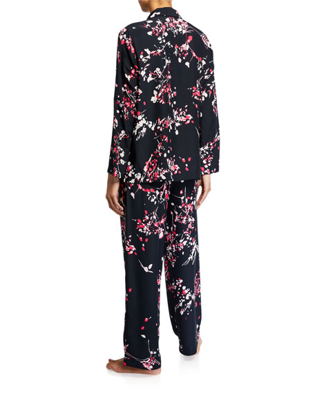 Natori Matsuri Floral-Print Classic Pajama Set