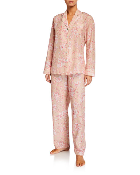 Ginia Florentine Silk-Blend Pajama Set