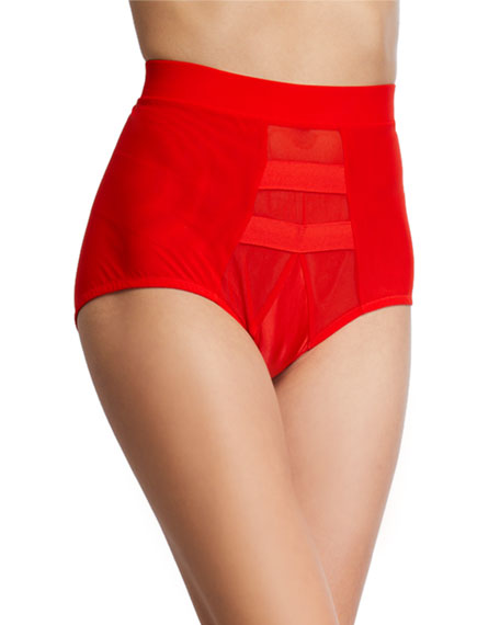 Image 1 of 2: HAH / We Are HAH High-Waisted Mesh Briefs