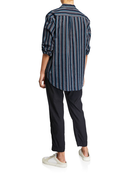 Image 2 of 2: Xirena Beau Striped Lounge Shirt