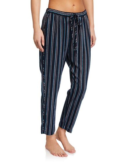 Xirena Kalvyn Metallic Striped Lounge Pants