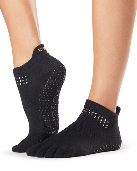 ToeSox Graceland Low Rise Full-Toe Grip Socks