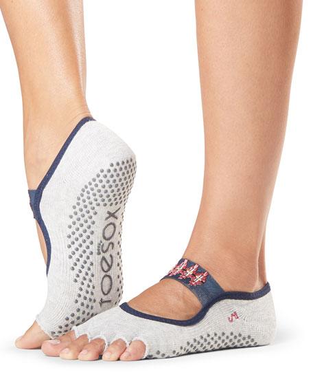 ToeSox Mia Yonder Half-Toe Grip Socks