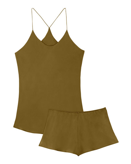 Olivia Von Halle Bella Willow Camisole Short Set