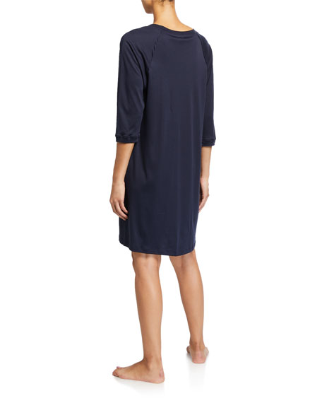 Hanro Pure Essence 3/4-Sleeve Gown