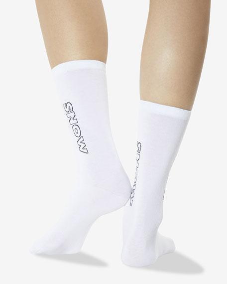 Hot Sox Color Names Seamless Socks, White