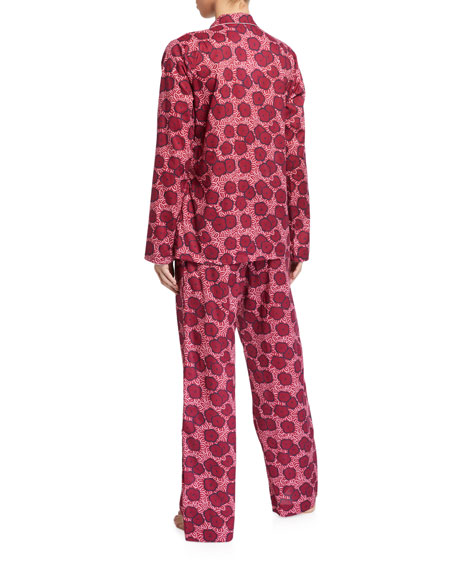 Derek Rose Ledbury Floral-Print Pajama Set