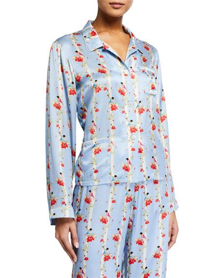 Morgan Lane Ruthie Floral Stripe Pajama Top