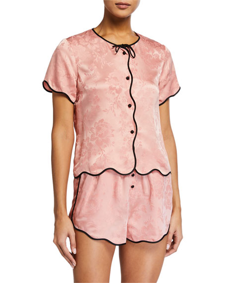 Morgan Lane Beatrice Scalloped Pajama Top