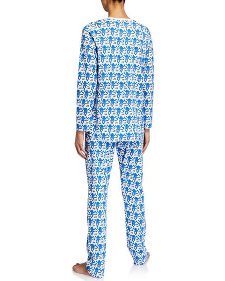 Roller Rabbit Monkey Pajama Set