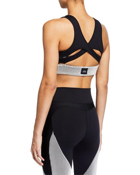 Alo Yoga Electric High-Neck Sports Bra