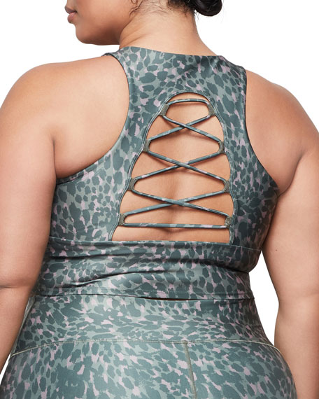 Good American Printed Crisscross Crop Top - Inclusive Sizing