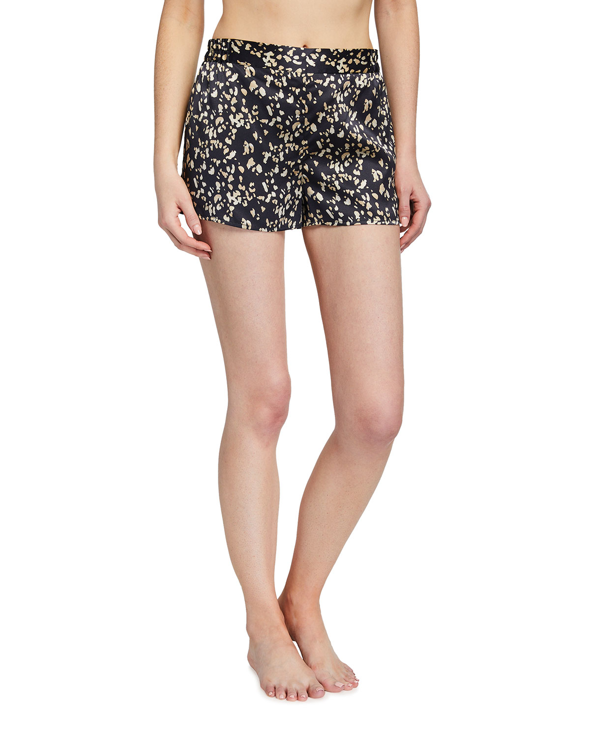 Ginia Leopard-Print Silk Sleep Shorts