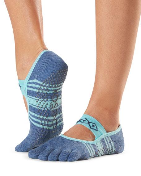 ToeSox Grip Full-Toe Mia Baja Socks