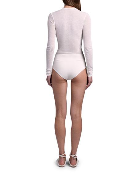 Agnona Deep-V Bodysuit
