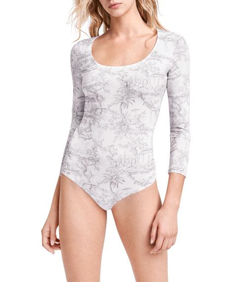 Wolford Antoinette 3/4-Sleeve String Bodysuit
