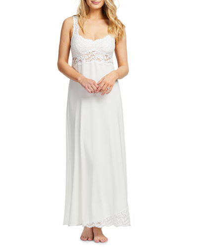 Supportive Lace-Trim Jersey Nightgown