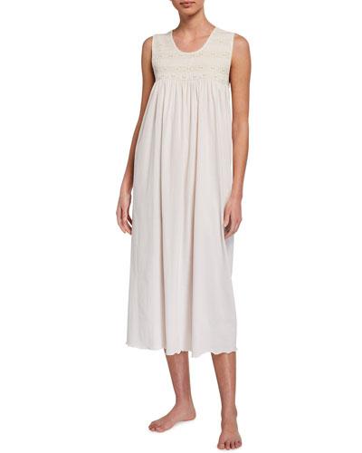 Elvira Sleeveless Jersey Nightgown