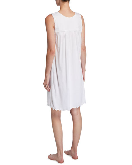 Image 2 of 2: P Jamas Allegra Sleeveless Jersey Nightgown