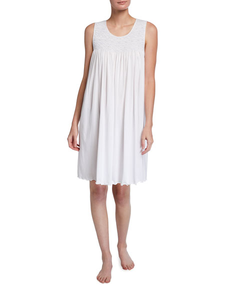 Image 1 of 2: P Jamas Allegra Sleeveless Jersey Nightgown